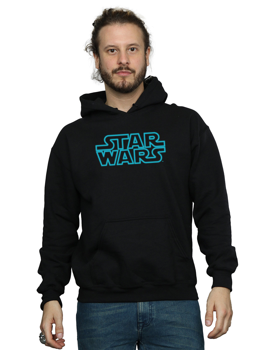 Star Wars Uomo Neon Sign Logo Con Felpa Con Logo Cappuccio 516f6c