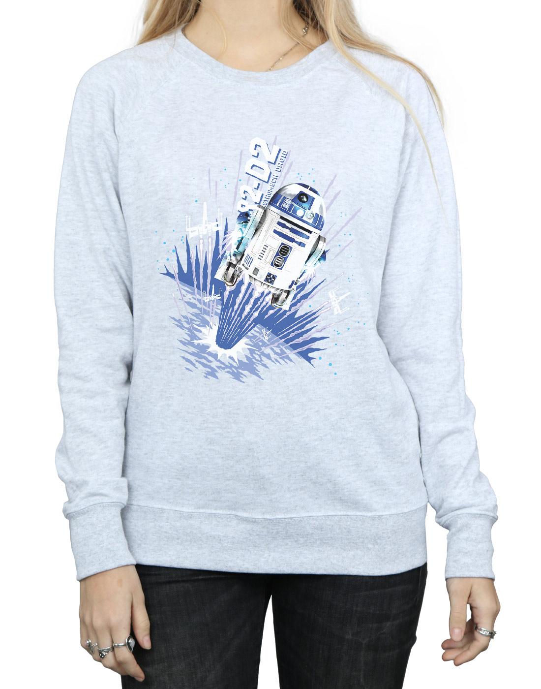Star Wars Damen R2-D2 R2-D2 R2-D2 Blast Off Sweatshirt   Verwendet in der Haltbarkeit    Hat einen langen Ruf    Um Eine Hohe Bewunderung Gewinnen Und Ist Weit Verbreitet Trusted In-und   d2e8b6