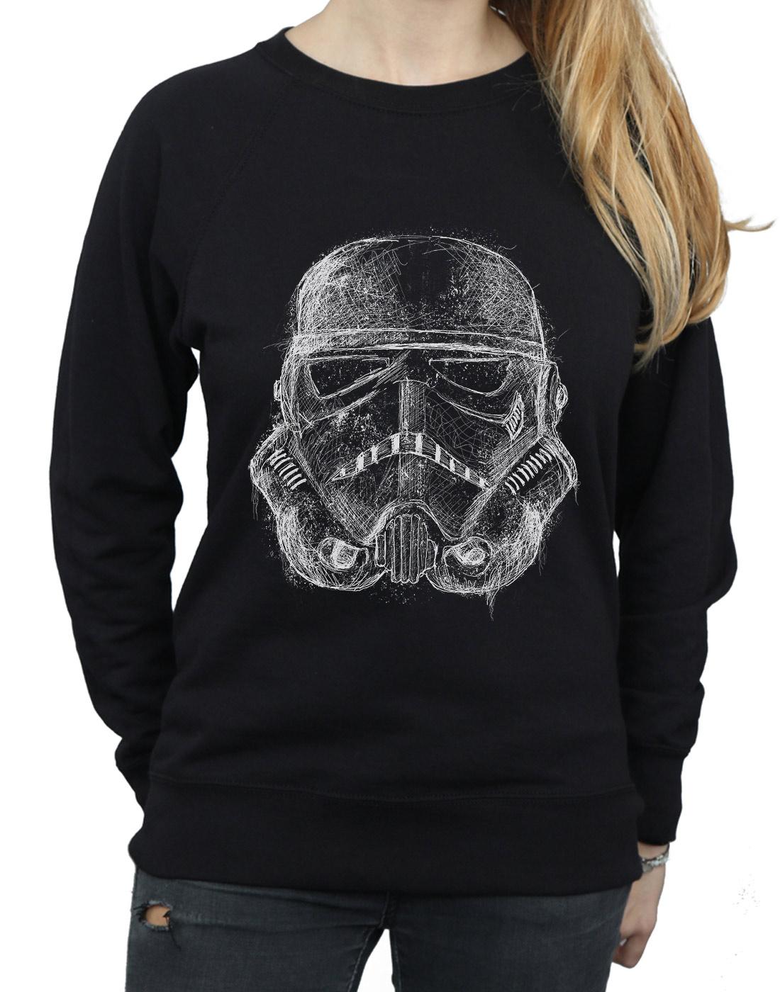 Donna Scribble Stormtrooper Wars Star Felpa di tX04pp