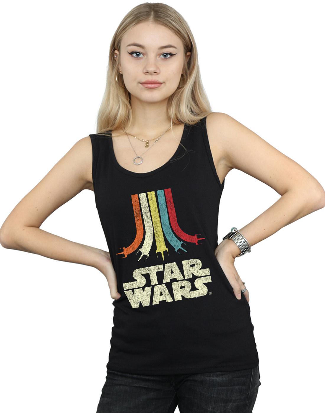 Star-Wars-Women-039-s-Retro-Rainbow-Vest