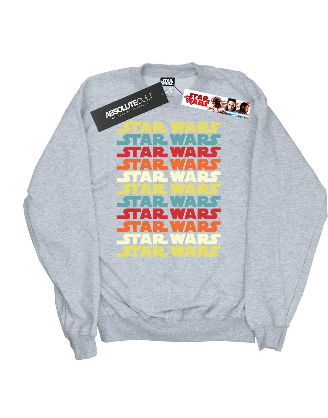 Star Wars Girls Retro Repeat Logo Sweatshirt