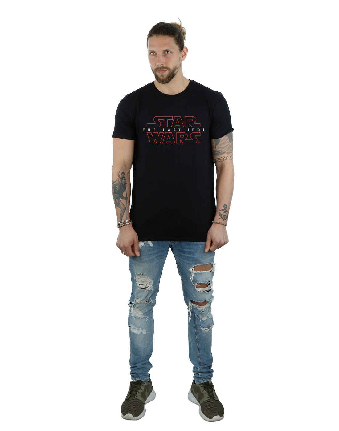 Star-Wars-Men-039-s-The-Last-Jedi-Logo-T-Shirt