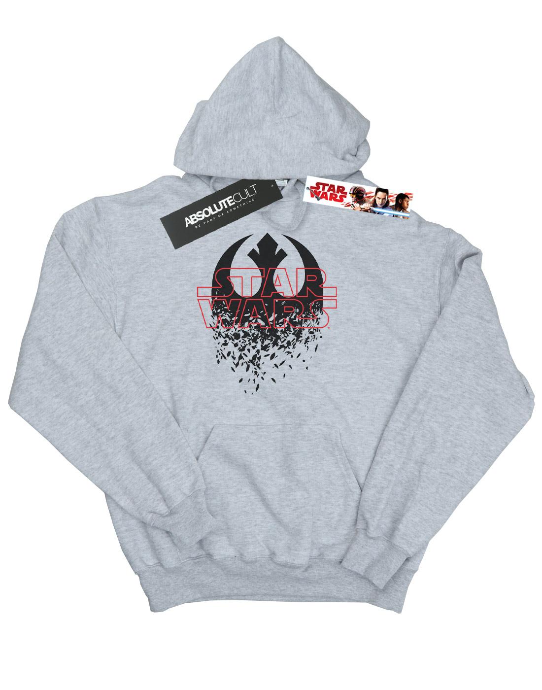 Star-Wars-para-hombre-la-ultima-Jedi-destrozado-emblema-con-Capucha miniatura 12