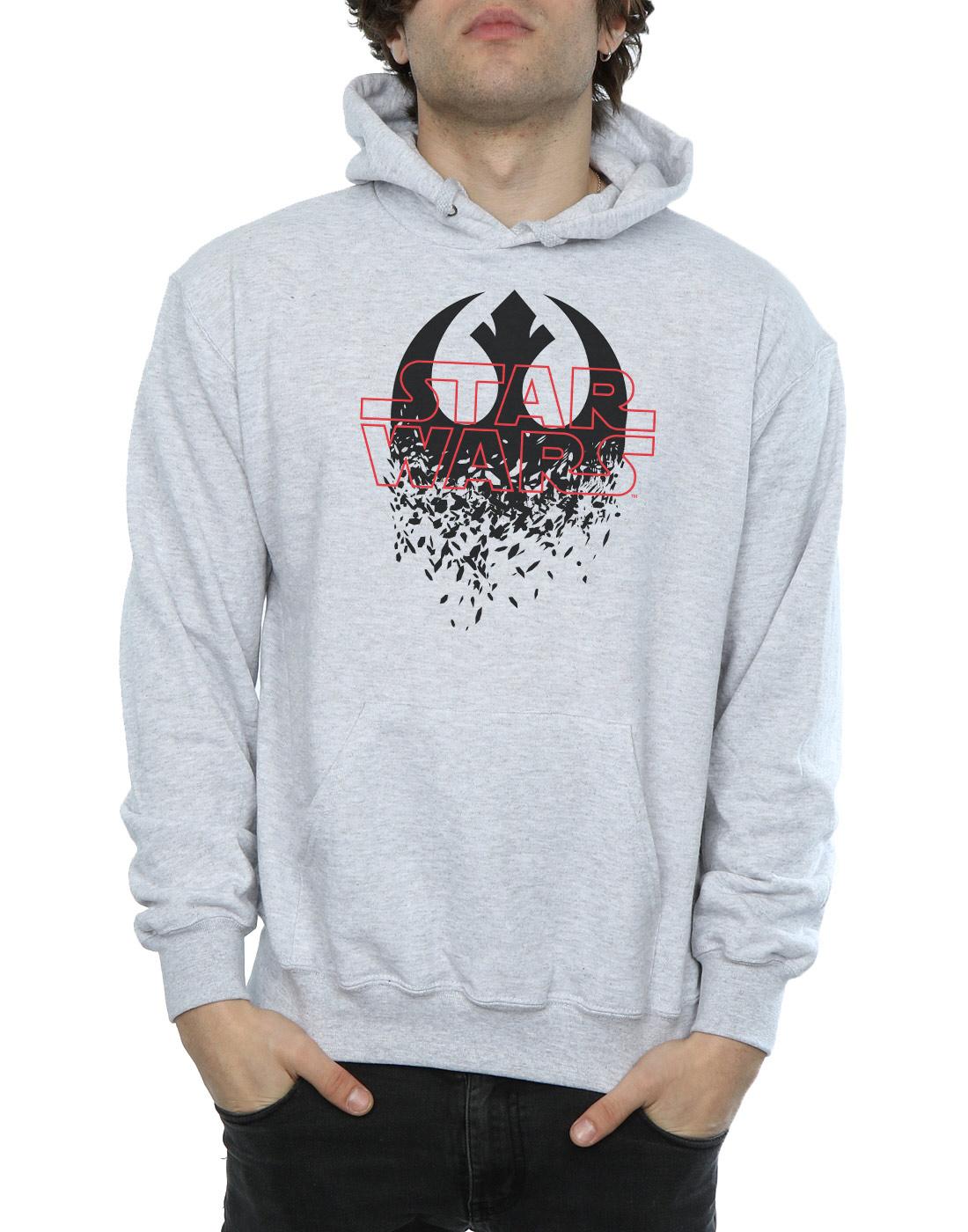 Star-Wars-para-hombre-la-ultima-Jedi-destrozado-emblema-con-Capucha miniatura 14