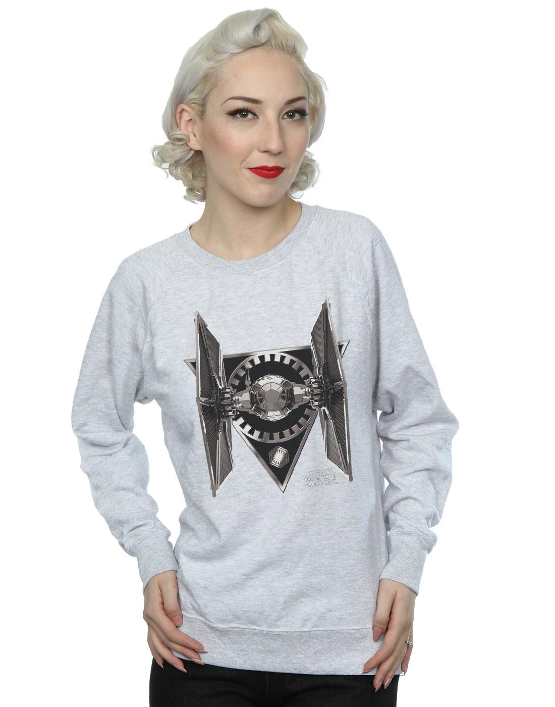 Star-Wars-mujer-The-Last-Jedi-Tie-Fighter-Camisa-De-Entrenamiento