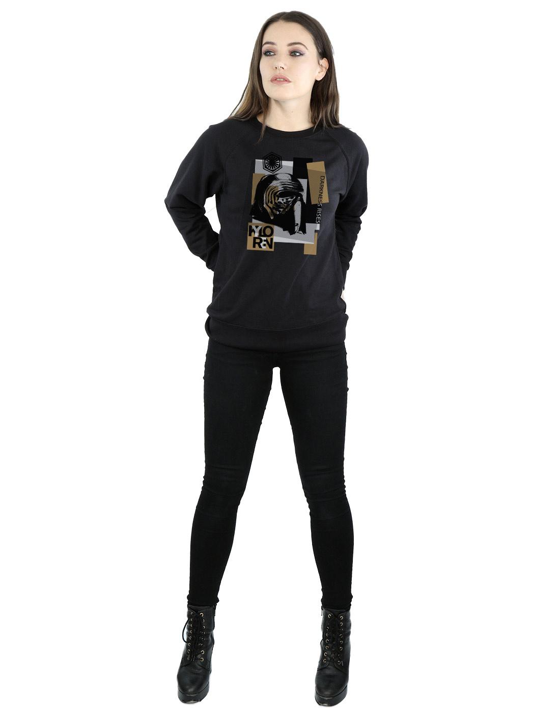 Star-Wars-mujer-The-Last-Jedi-Kylo-Ren-Patchwork-Camisa-De-Entrenamiento