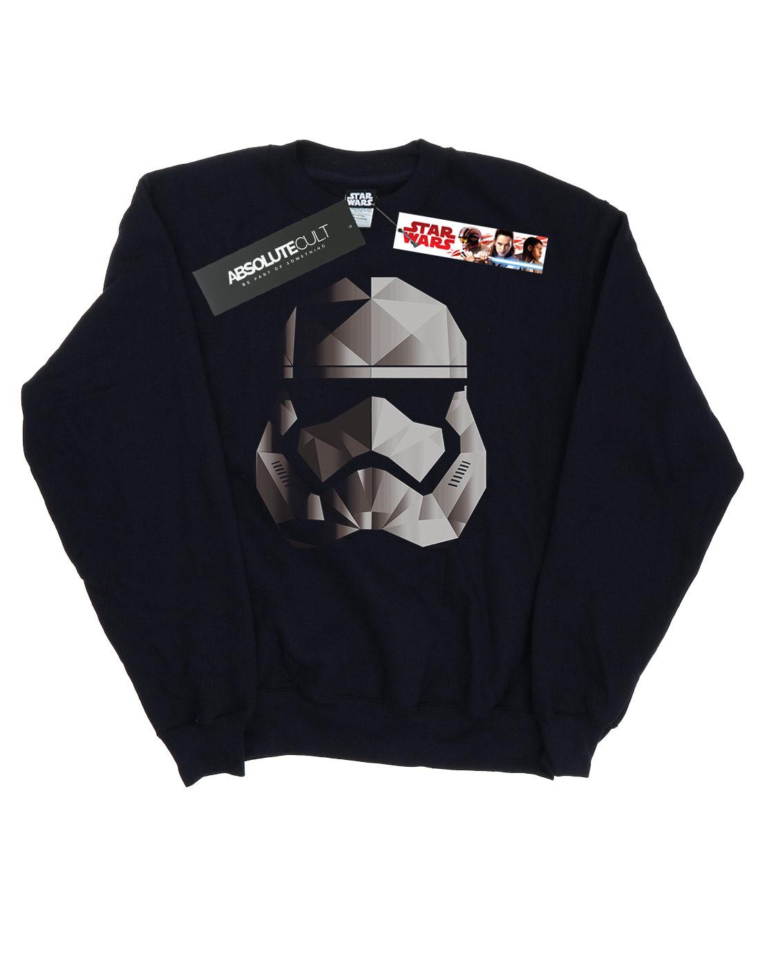 Star-Wars-para-hombre-la-ultima-Jedi-Stormtrooper-Mono-cubista-casco-Sudadera miniatura 7