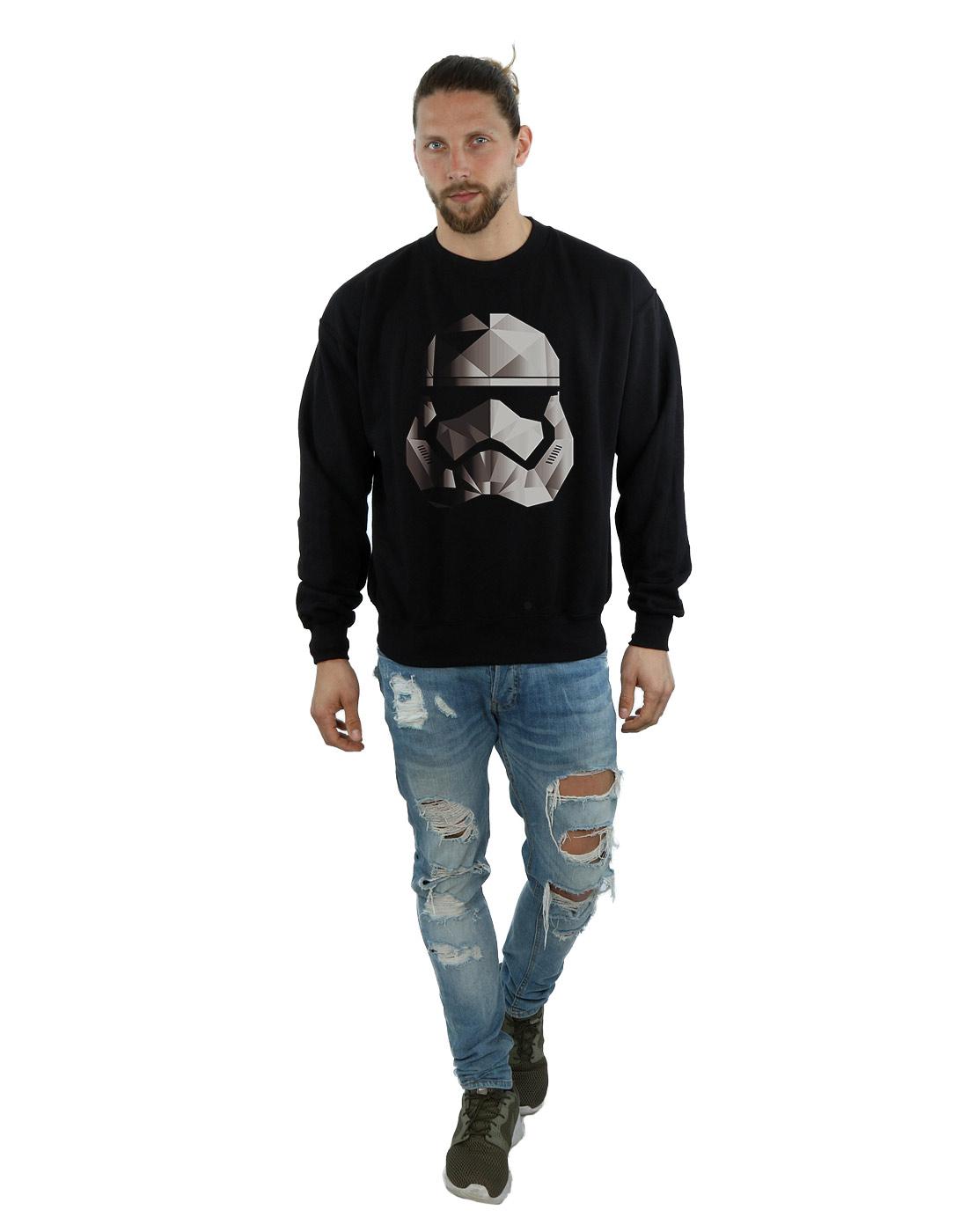 Star-Wars-para-hombre-la-ultima-Jedi-Stormtrooper-Mono-cubista-casco-Sudadera miniatura 10