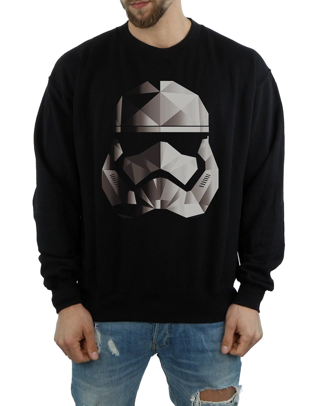 Star-Wars-para-hombre-la-ultima-Jedi-Stormtrooper-Mono-cubista-casco-Sudadera miniatura 9