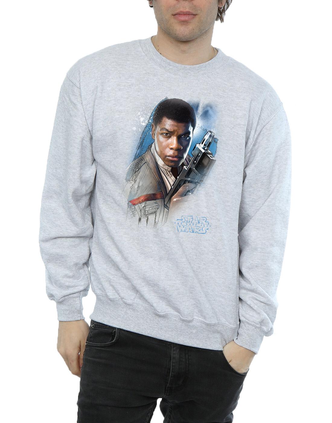 Star-Wars-Homme-The-Last-Jedi-Finn-Brushed-Sweat-Shirt
