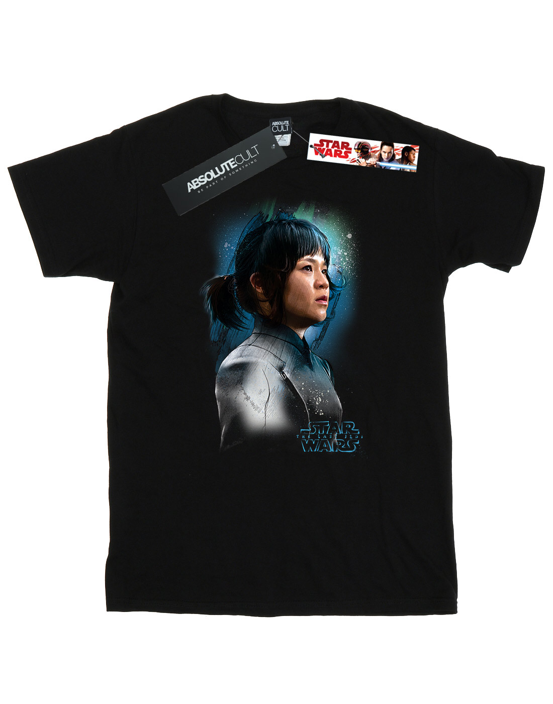 Star-Wars-Men-039-s-The-Last-Jedi-Rose-Tico-Brushed-T-Shirt