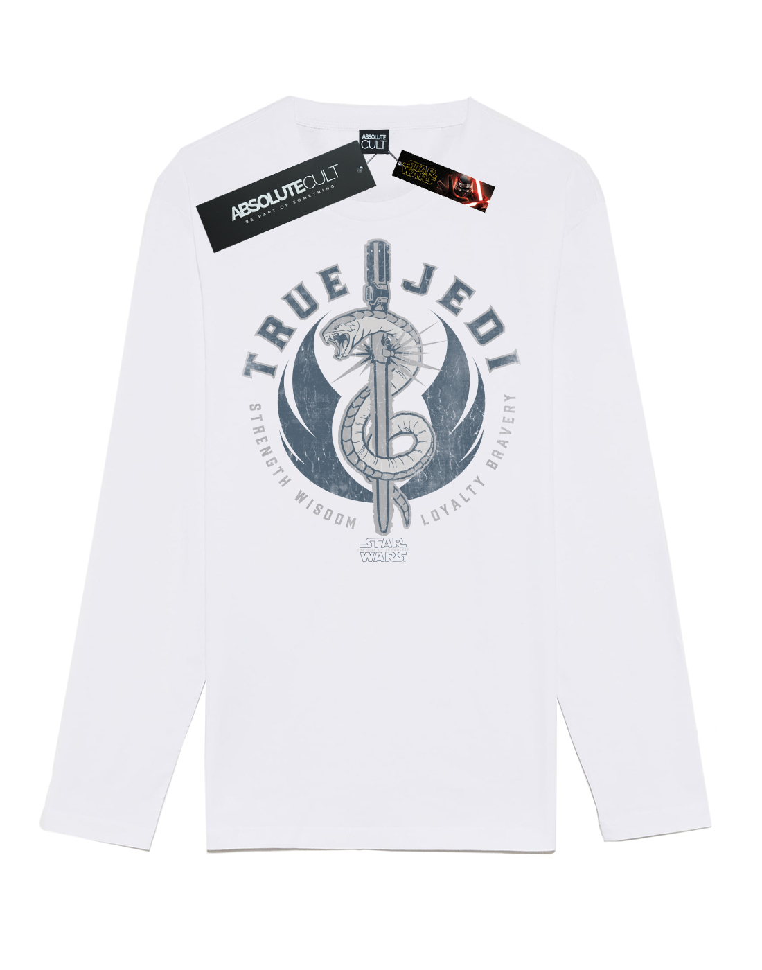 Star-Wars-para-hombre-el-aumento-de-Skywalker-verdadero-Jedi-azul-de-manga-larga-T-Shirt miniatura 8