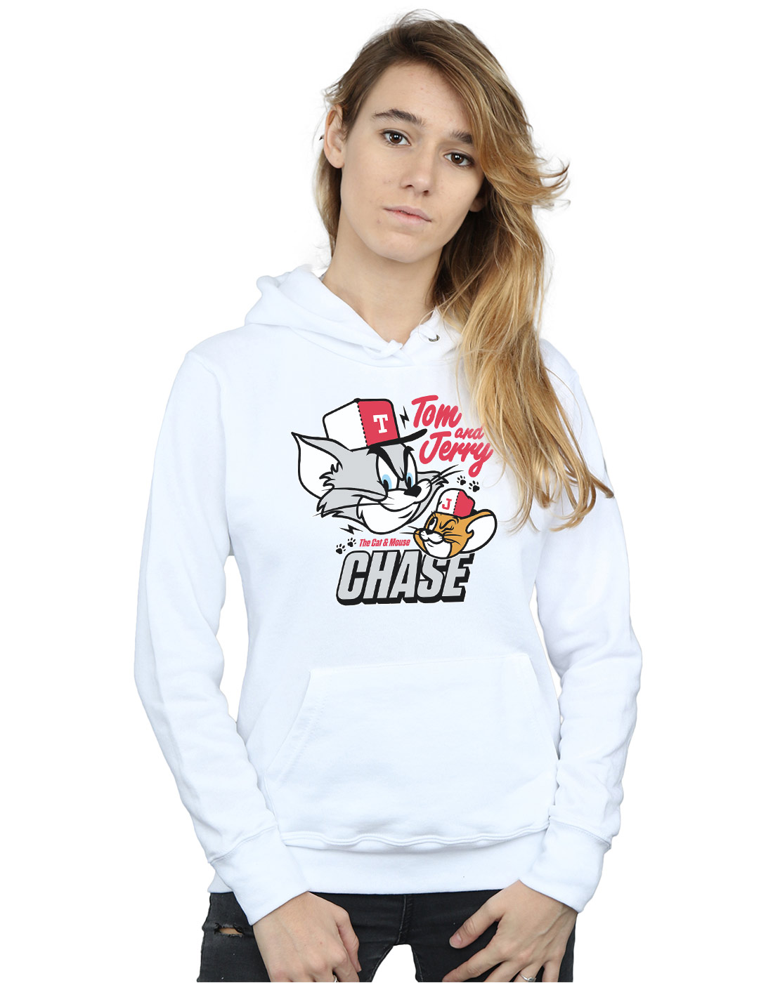 Tom And Jerry Jerry Jerry Donna Cat & Mouse Chase Felpa Con Cappuccio 5aab92