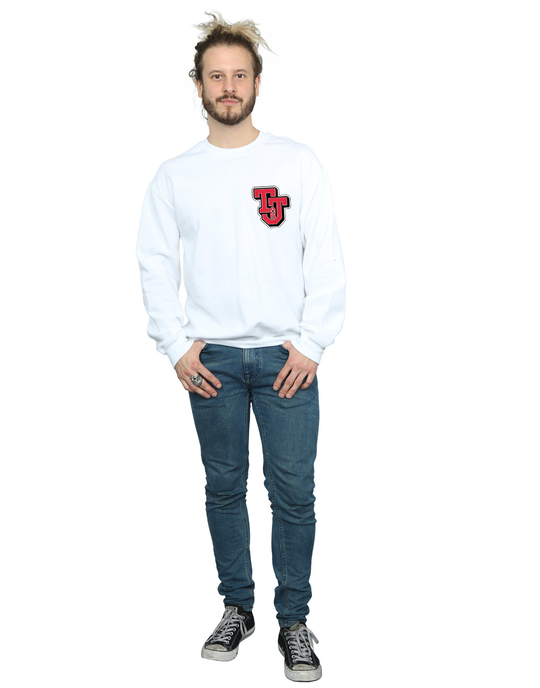 Tom-And-Jerry-Homme-Collegiate-Logo-Sweat-Shirt