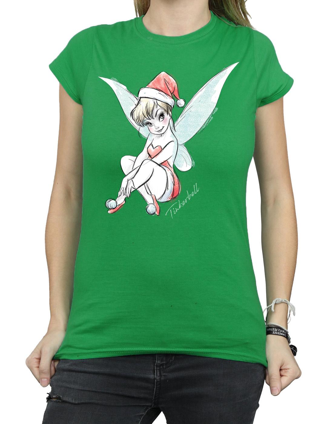 Disney-Women-039-s-Tinkerbell-Christmas-Fairy-T-Shirt thumbnail 19