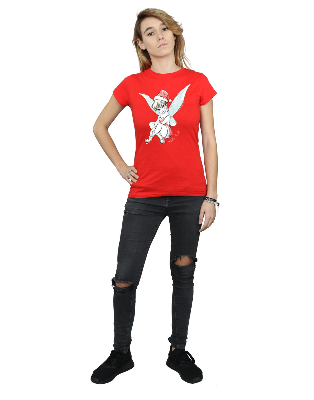 Disney-Women-039-s-Tinkerbell-Christmas-Fairy-T-Shirt thumbnail 30