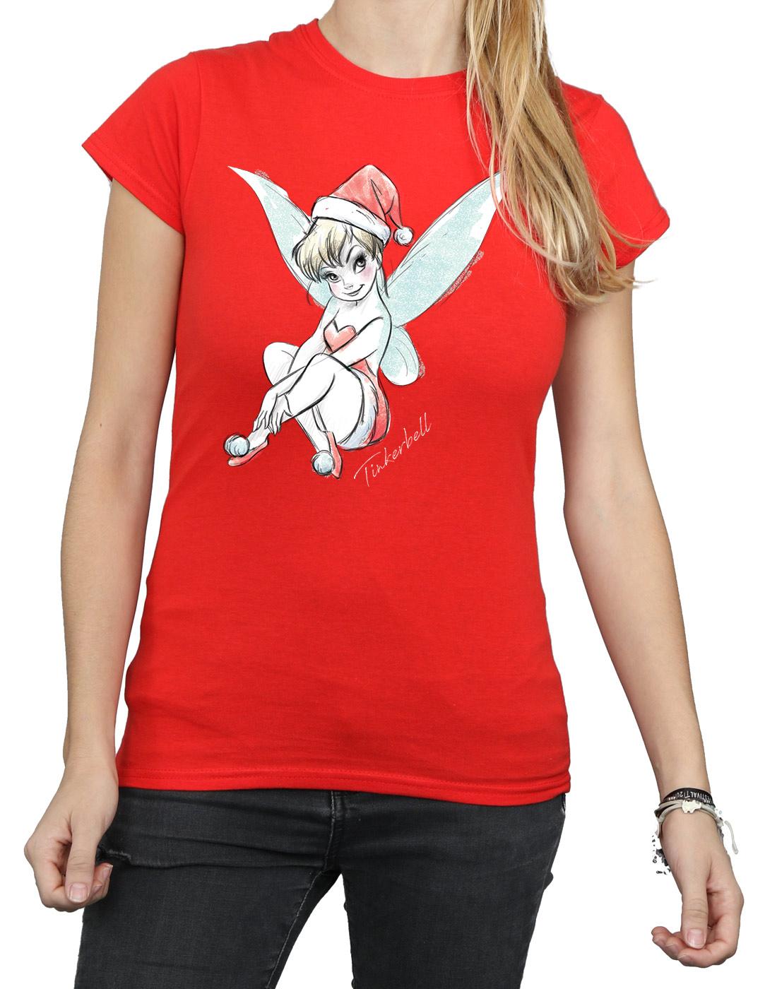 Disney-Women-039-s-Tinkerbell-Christmas-Fairy-T-Shirt thumbnail 29