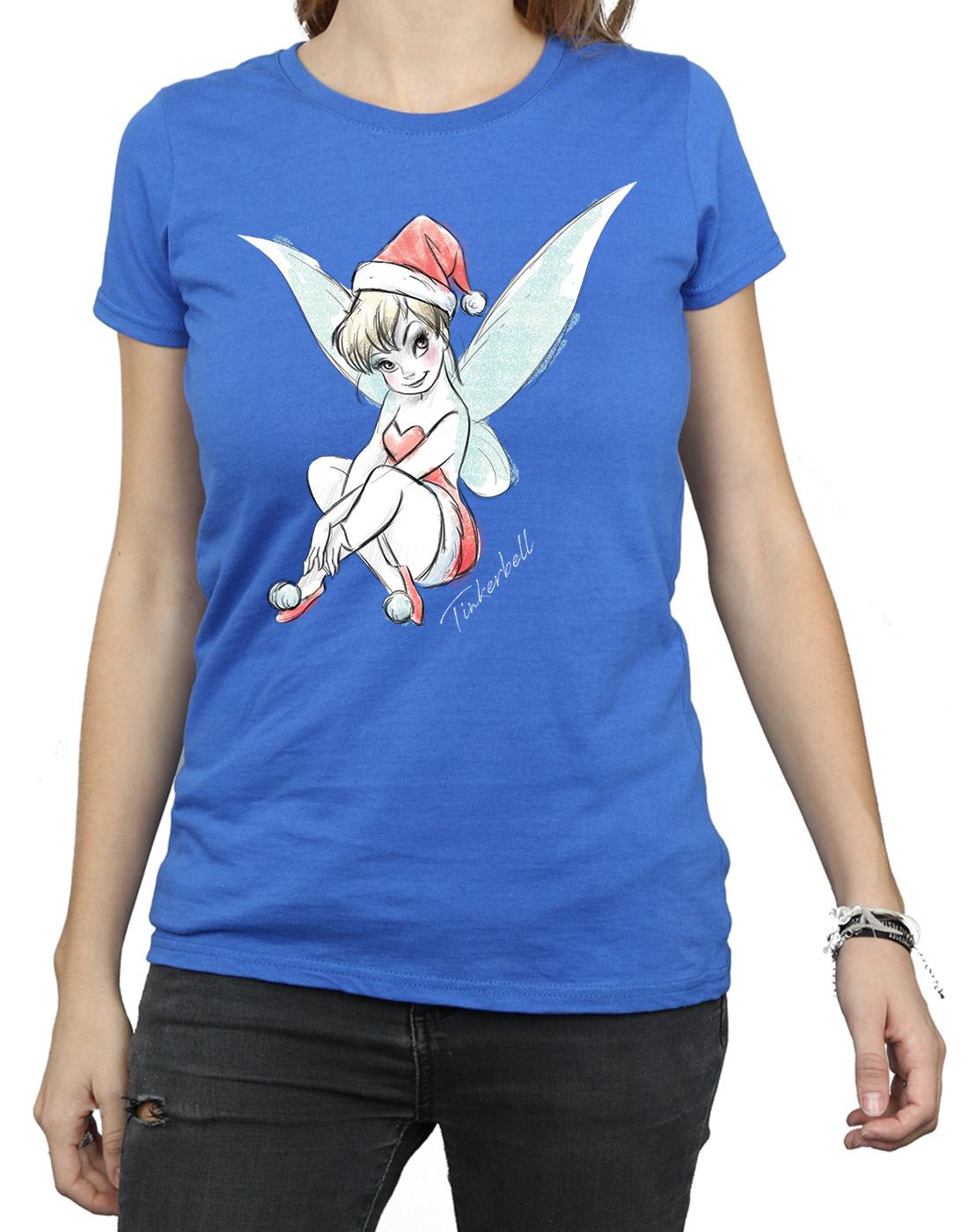 Disney-Women-039-s-Tinkerbell-Christmas-Fairy-T-Shirt thumbnail 34