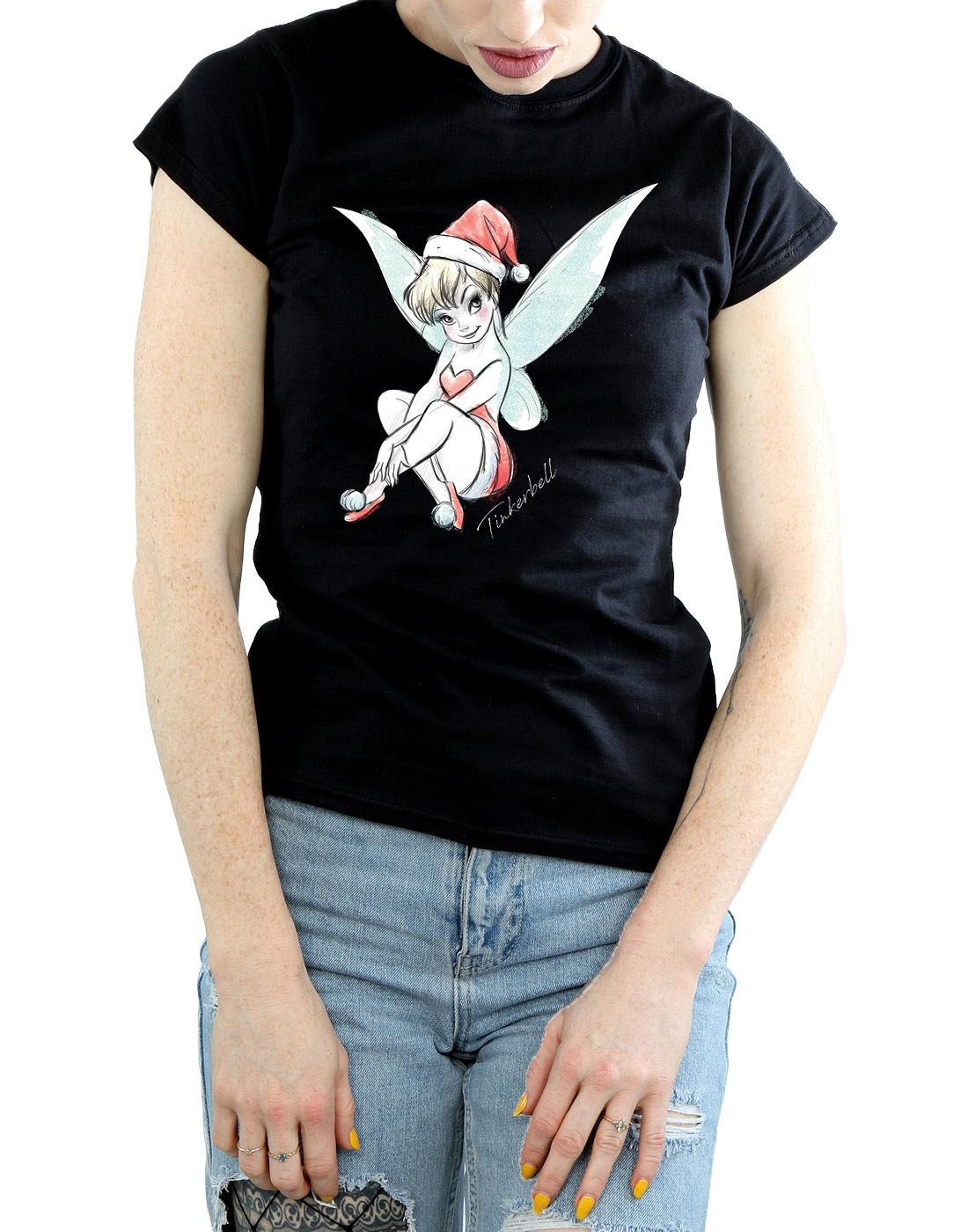 Disney-Women-039-s-Tinkerbell-Christmas-Fairy-T-Shirt thumbnail 9