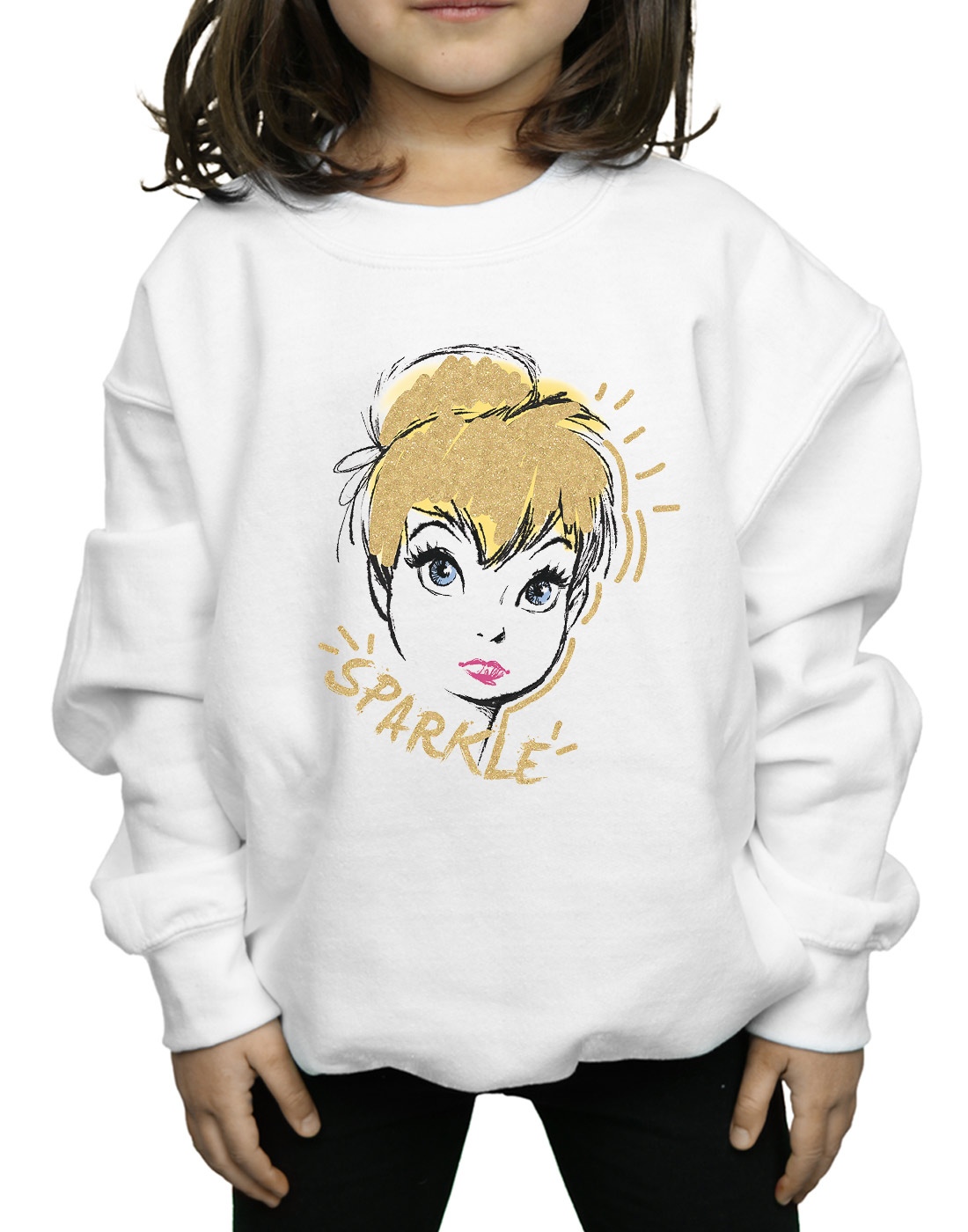 Disney-Fille-Tinkerbell-Sparkle-Sweat-Shirt