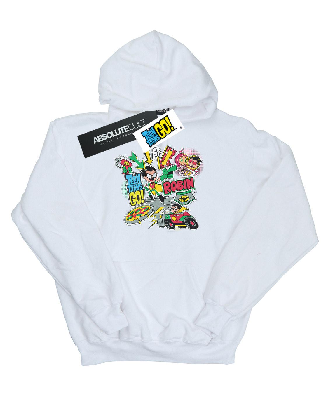 968b49b55545 DC Comics Boys Teen Titans Go Robin Montage Hoodie