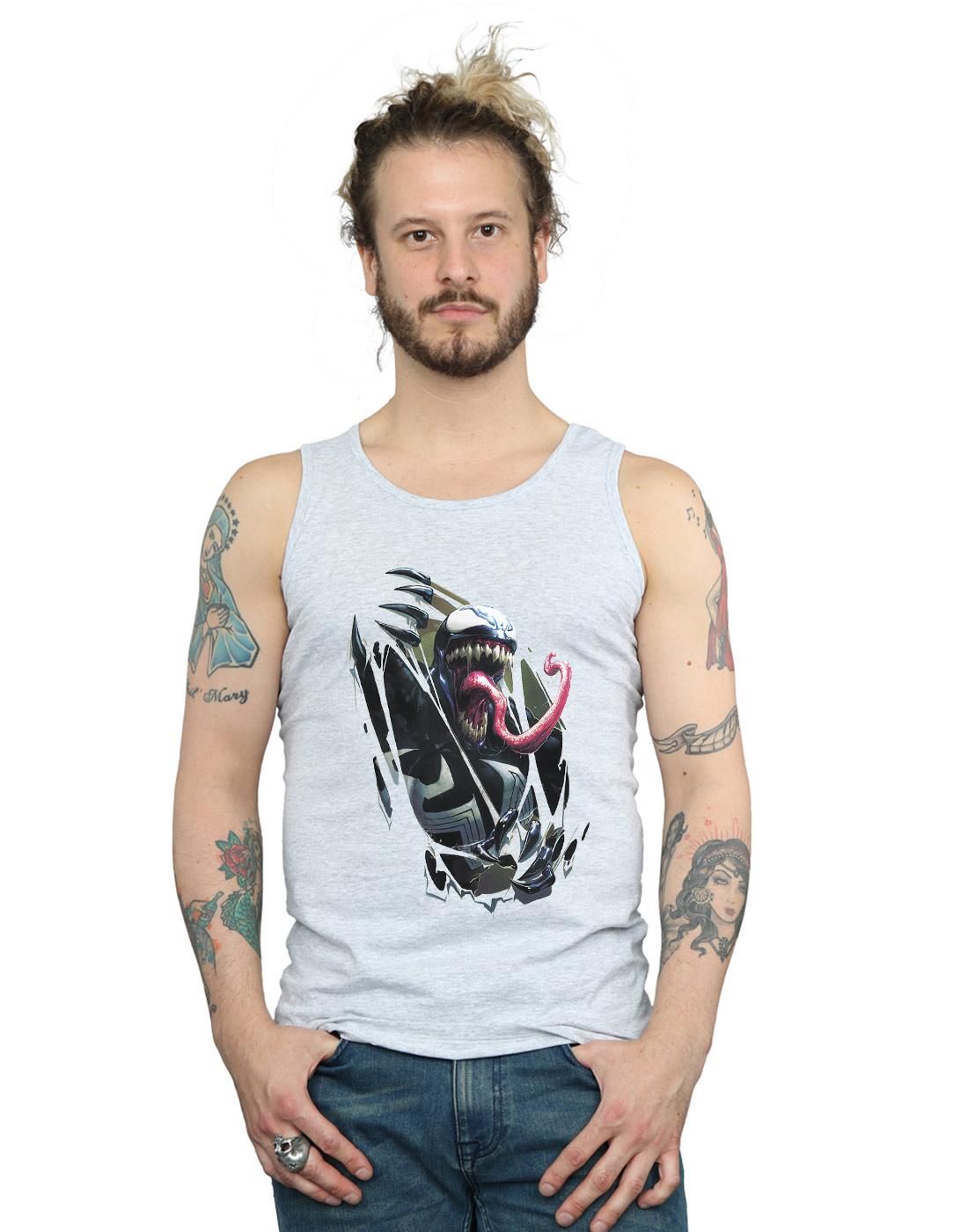 Marvel-Hombre-Venom-Chest-Burst-Camiseta-Sin-Mangas