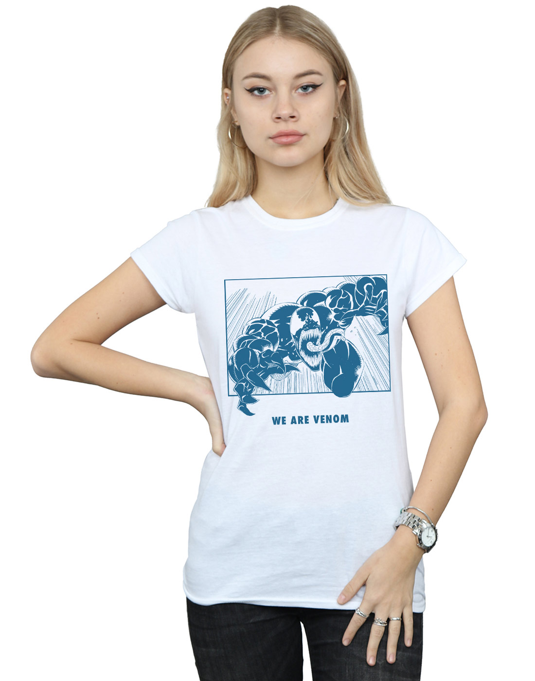 Marvel-Mujer-Venom-We-Are-Venom-Camiseta