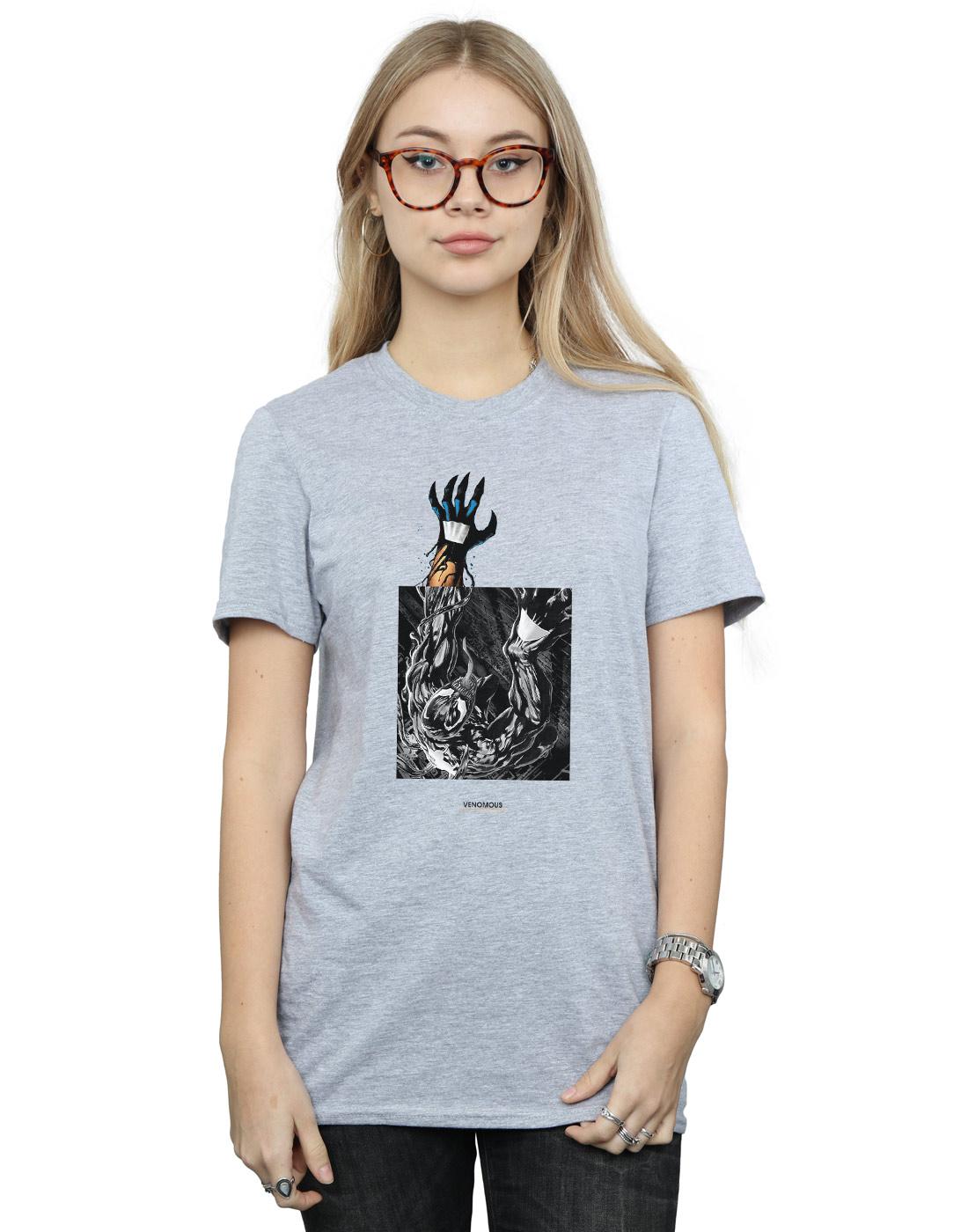 Marvel-Mujer-Venom-Climb-Camiseta-Del-Novio-Fit