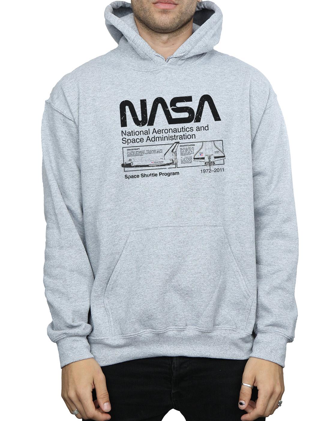 scarpe a buon mercato ottima qualità la moda più votata Dettagli su NASA Uomo Classic Space Shuttle Felpa Con Cappuccio