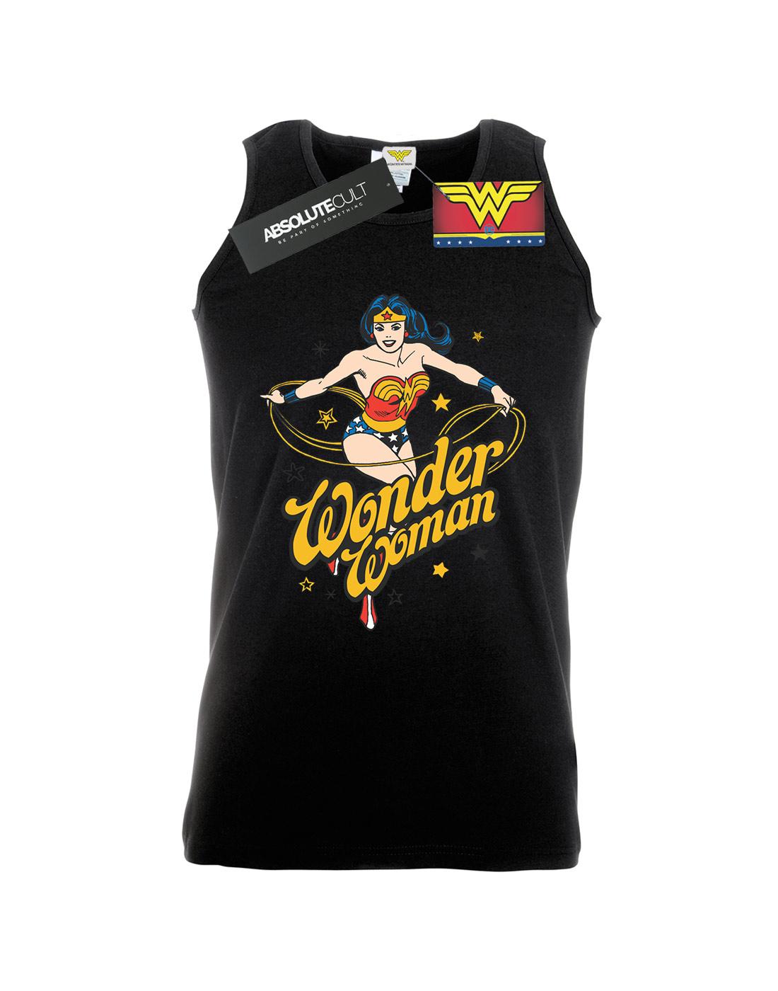 DC-Comics-Men-039-s-Wonder-Woman-Stars-Tank-Top thumbnail 7