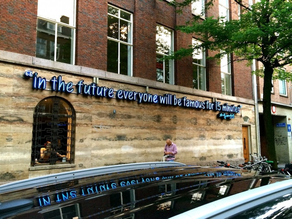 We are all stars according to Warhol - Witte de Withstraat