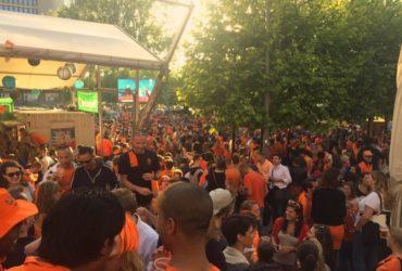 Orange madness at Biergarten