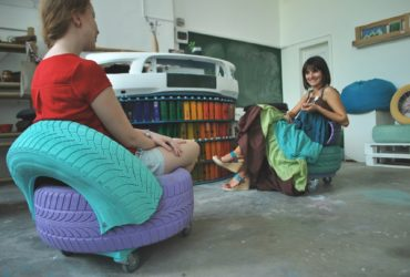 The Sustainable Development Center - upcycling waste to art