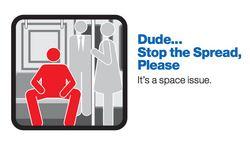 Le slogan des autorités du métro de New-York concernant le Manspreading