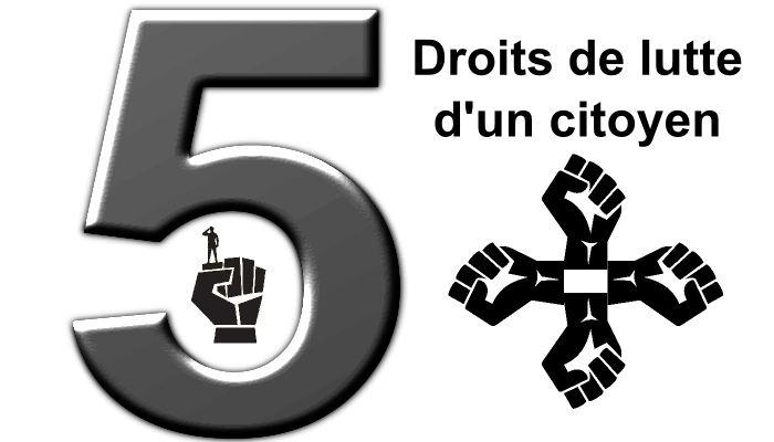 En général, je distingue 5 étapes sur l'évolution des droits pour la lutte d'un citoyen.