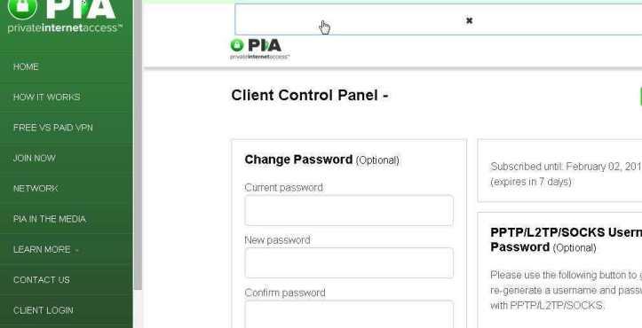 Le site de Private Internet Access, loin d'être ergonomique