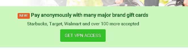 Vous pouvez acheter le VPN de Private Internet Access avec des bons d'achats