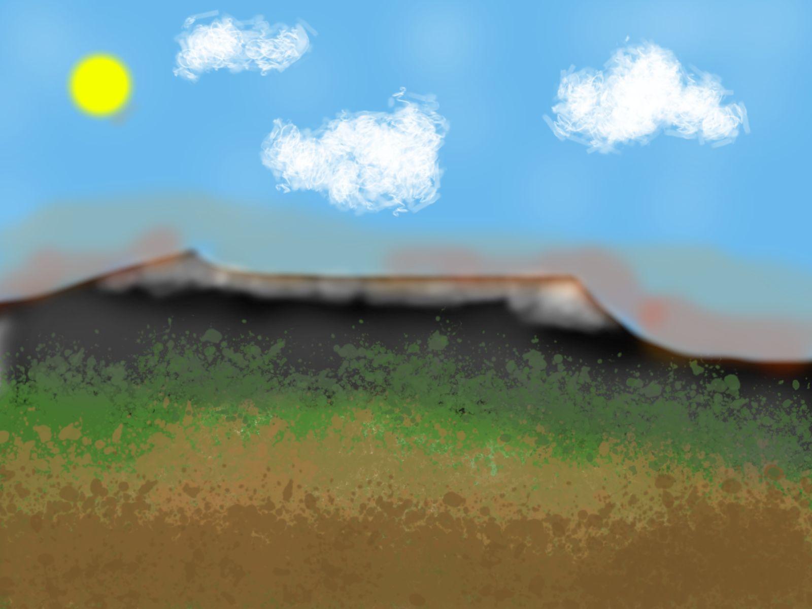 Paysage de montagne avec Krita