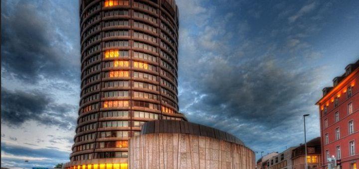 Le siège de la Banque des règlements internationaux en Suisse