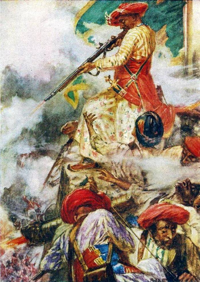 Tipu Sultan lors du siège de Seringapatam en 1791 - Crédit : Wikimédia