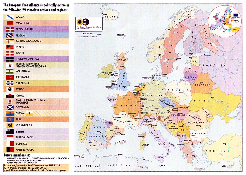 La carte des eurorégions ou comment l'Allemagne veut créer une Europe raciale, basée sur les ethnies. Le moyen est de promouvoir les langues régionales pour créer des scissions.