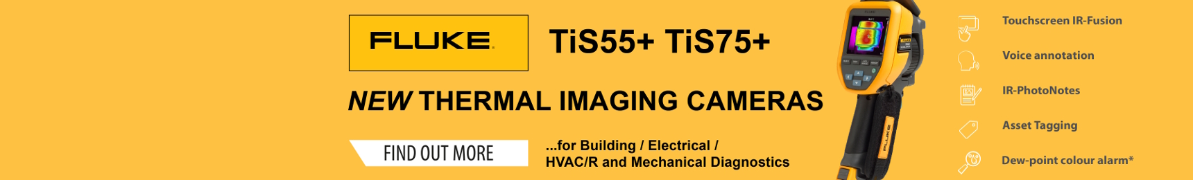 FLUKE TiS55+ and TiS75+ Thermal Imaging Cameras
