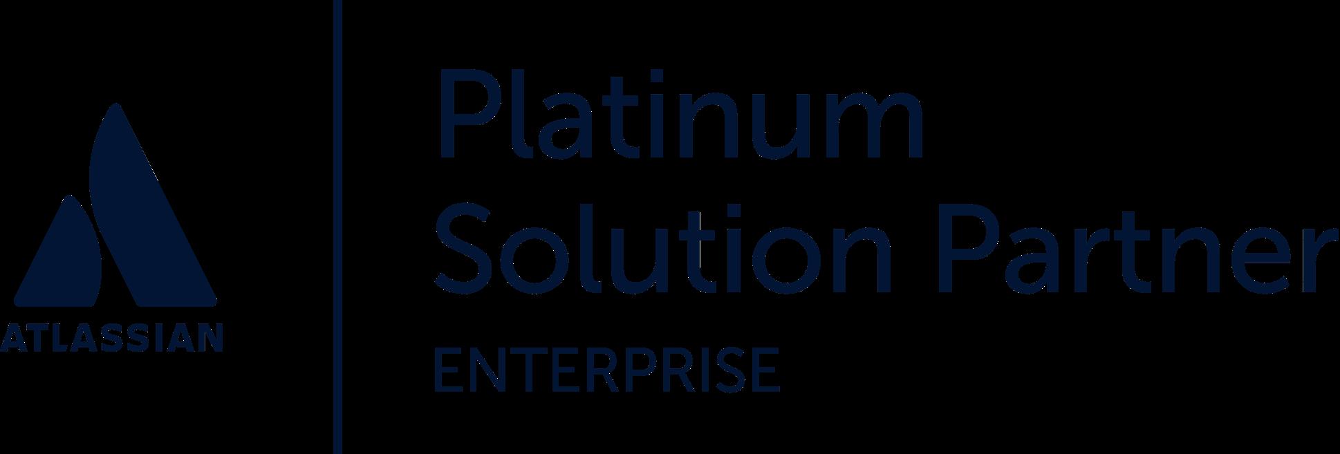 Atlassian platinum solution partner logo