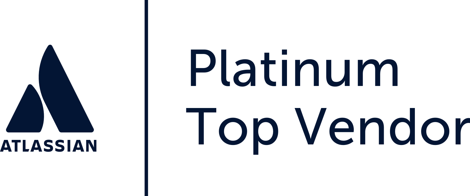 Atlassian platinum top vendor logo