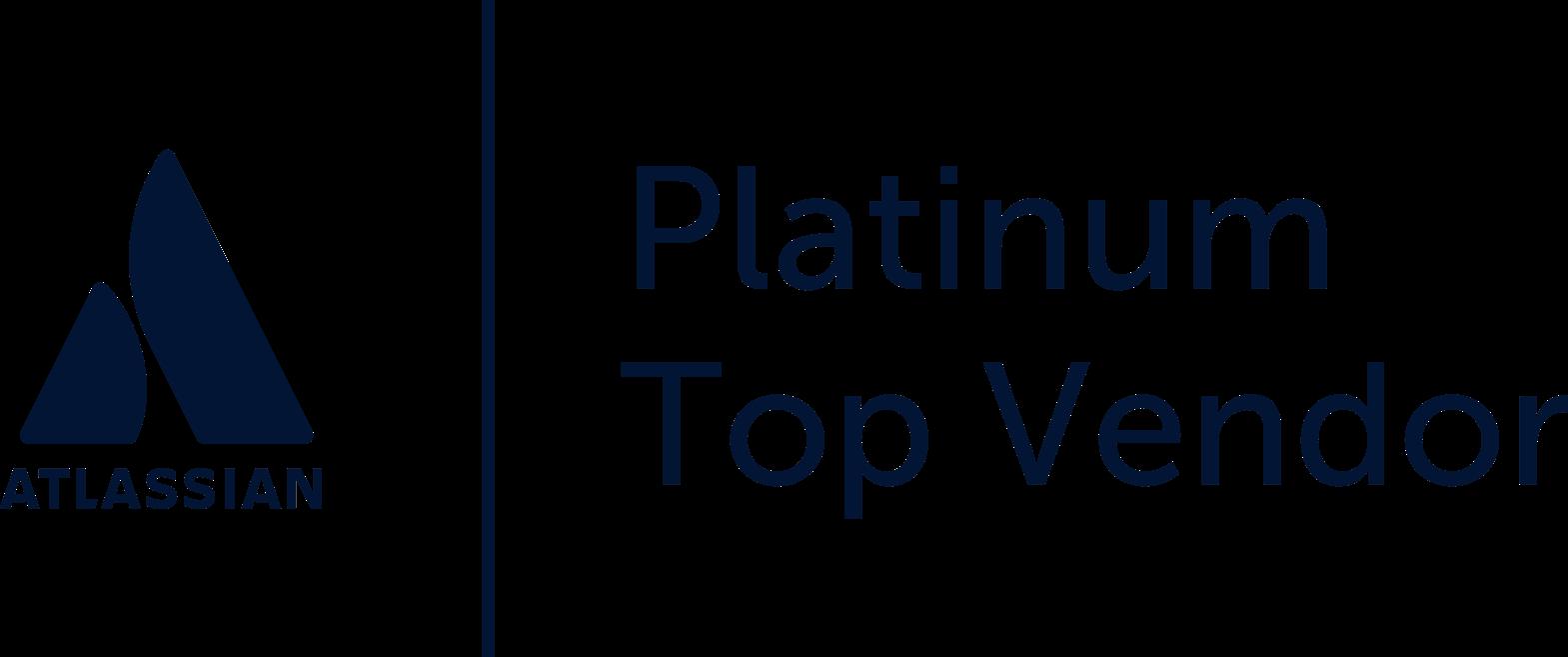 Atlassian platinum top vendor logo