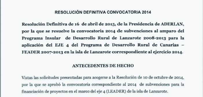 RESOLUCION DEFINITIVA 2014.