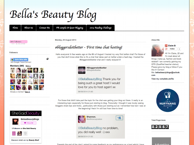 Bella's Beauty Blog