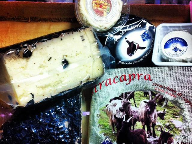 Come in and discover our walk in cheese room, with stock arriving daily from Italy