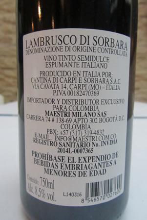 Lambrusco Etichetta