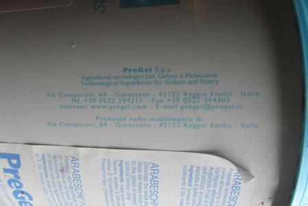 Etichetta - prodotto Arabeschi